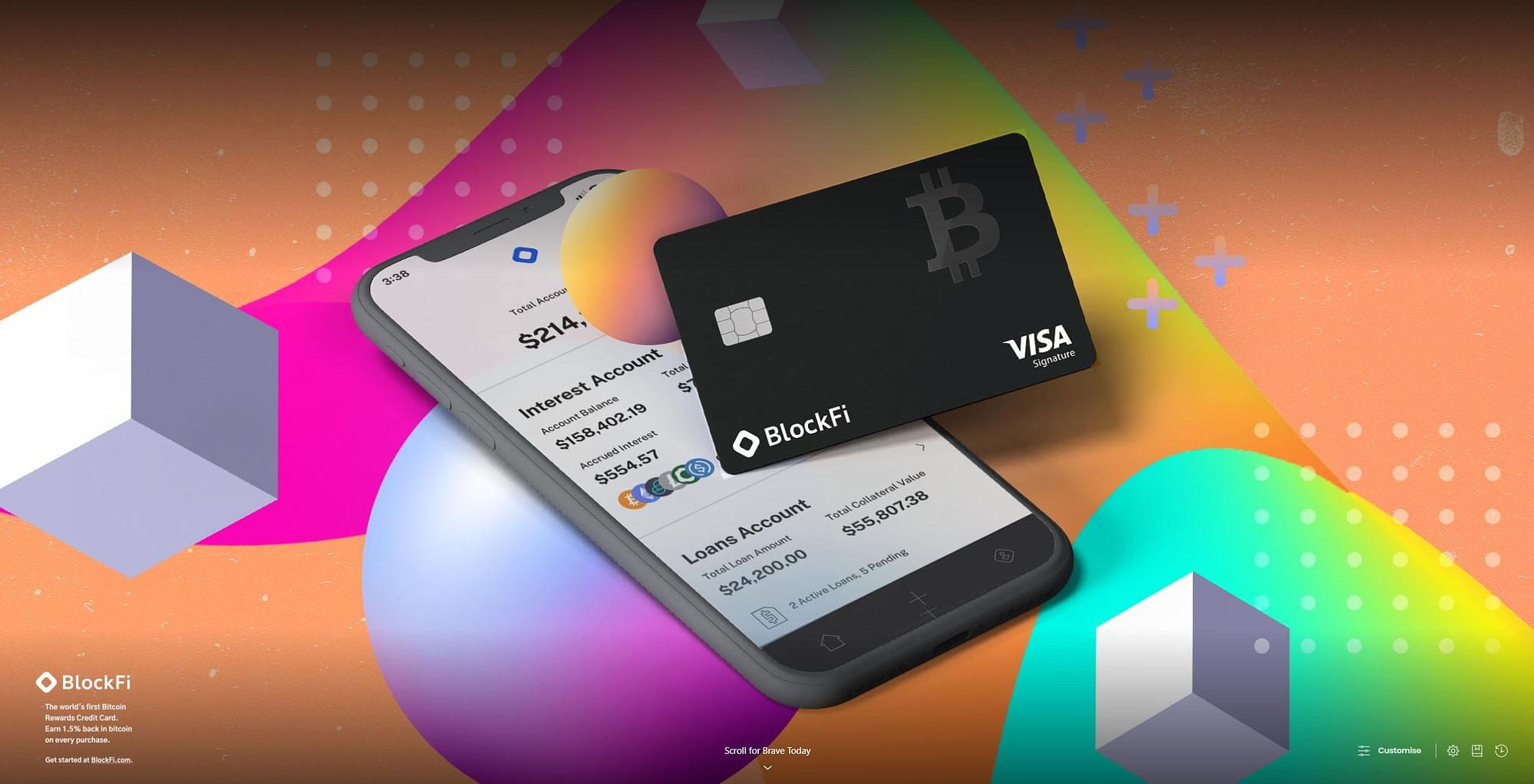 Brave Rewards sponsored background image